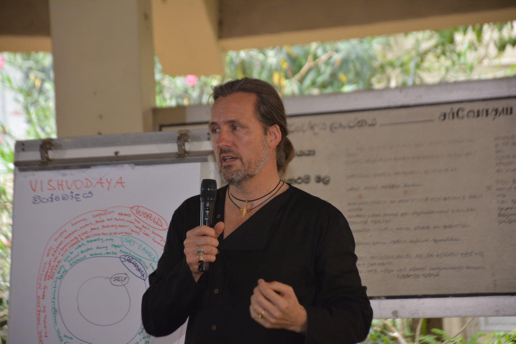 Transformative Education and Society Building: Integral Keynote at Sarvodaya's Headquarters, Sri Lanka